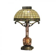 """Dale Tiffany Lamps 25.5"""" Laggard Three Light Table Lamp in Antique Bronze - TT50108"""