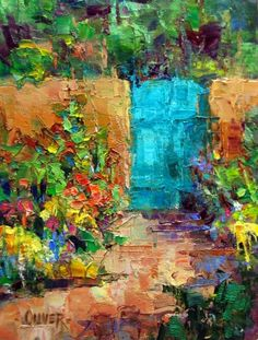 Albuquerque Garden Gate, painting by artist Julie Ford Oliver