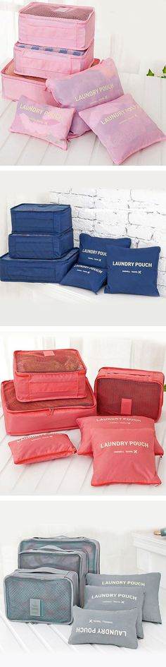 34 Gift Ideas for People Who Travel Travel Pouch 6 Piece Bag Set!