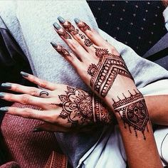 Beautiful hand henna