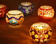 Mosaic Tealight Holders