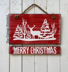 A personal favorite from my Etsy shop https://www.etsy.com/listing/553831418/christmas-sign-merry-christmas-christmas Christmas Sign, merry Christmas, Christmas deer, wood sign saying, rustic saying sign, wood sign, holidays, snow sign, Christmas decor, door