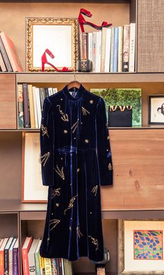 Insider Writer and Editor Tania Fares' Closet and Home: Click through to hear about how she developed an interest in fashion, and the British designers she's most excited about now. -- Blue velvet long coat     coveteur.com