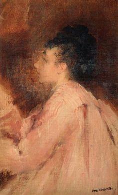 Eva Gonzales (1849-1883) 'Autoportrait'
