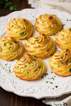 Garlic Parmesan Duchess Potatoes