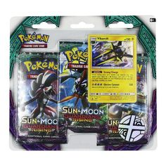 Give your collection a boost! Get in on the lateste Pokemon Trading Card Game action with three awesome booster packs from the new Sun & Moon-Guardians Rising exapnsion, 1 special holographic promo card featuring Vikavolt, a cool pokemon coin to add to your collection, and a code card for the Pokemon Trading Card Game Online!
