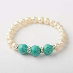 Turquoise and pearl