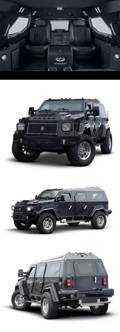 Zombies be scared! This badass Conquest Knight XV is the perfect vehicle of choice for any apocalypse. Click for more manliness.