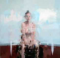 """Alex Kanevsky - 2010 - J.F.H. - oil on wood - 24"""" x 24"""""""