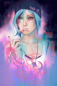 Chloe  http://marziiporn.tumblr.com/post/120282880835/painted-my-favorite-little-angry-blueberry-for