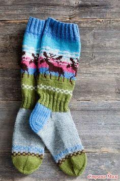 Похоже, что сегодня носочный день. Эти носки не такие креативные как у lusik1962, но для новогоднего конкурса вполне подойдут. Новогодний Конкурс http://www.stranamam.ru/