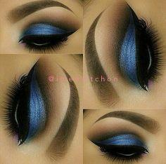 Olhos azuis esfumados