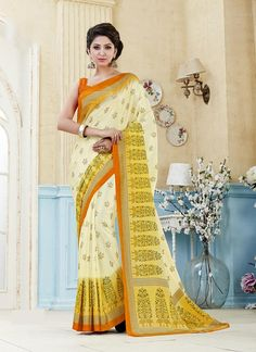 Buy designer saree online. Shop latest indian saree online at best price. Order this praiseworthy print work multi colour casual saree.