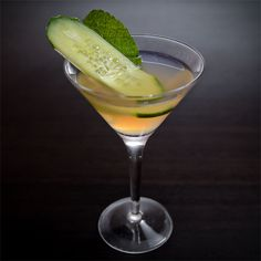 East Side Elder Cocktail     2 Cucumber slices     1 pinch Mint     2 oz Plymouth Gin     1 oz St-Germain     .75 oz Fresh lime juice  Garnish: Mint leaf and cucumber slice Glass: Highball or Martini