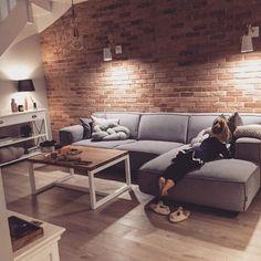 The Best 2019 Interior Design Trends - Interior Design Ideas Home Living Room, Interior Design Living Room, Living Room Designs, Living Room Decor, Living Spaces, Living Room Brick Wall, Living Room Colors, Design Case, House Design