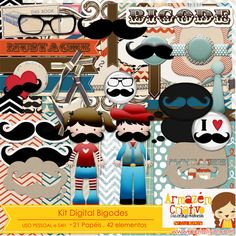 Kit digital Bigodes http://acriativo.com/loja/index.php?main_page=product_info&cPath=34&products_id=769