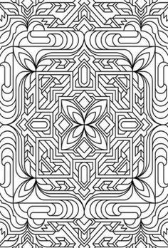 Geometric Design Colouring Pictures Stained Glass Pages To Print And Colour