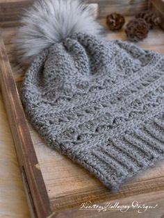 3e20817cc19 Crochet a winter slouch hat for women with this free crochet slouch hat  pattern. Instructions