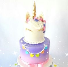Never enough of unicorn cake Pretty Cakes, Cute Cakes, Beautiful Cakes, Amazing Cakes, Unicorn Birthday Parties, Unicorn Party, Birthday Cake, Birthday Ideas, Unicorn Foods