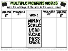 math worksheet : 1000 images about multiple meaning on pinterest  multiple  : Multiple Meaning Words Worksheets 5th Grade