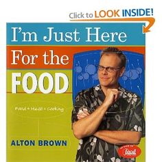Alton Brown is awesome :) And now they're playing reruns of Good Eats on the Food Network! Yay!