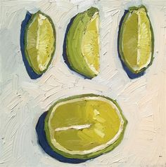 Original art for sale at UGallery.com | Sliced Lime by Nicole Newsted | $500 | oil painting | 12' h x 12' w | http://www.ugallery.com/oil-pa...