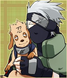 """The first thing I thought when I saw the new forehead protectors was, """"Now Kakashi and Biscuit can match!"""""""