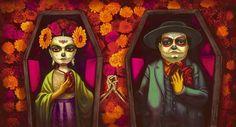 Ilustración del libro 'Frida', de Benjamin Lacombe