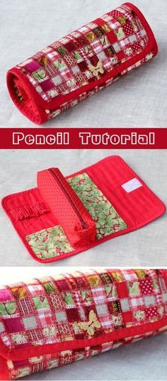 Sew practical textile pencil technique patchwork mosaic. Tutorial in pictures. Пенал из ткани. http://www.handmadiya.com/2015/09/pencil-patchwork-tutorial.html  Пенал из ткани