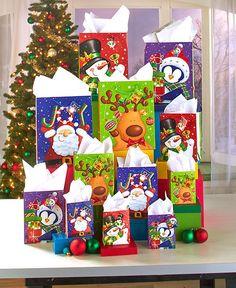 28-PC. HOLIDAY CHRISTMAS GIFT BAG SET #Unbranded