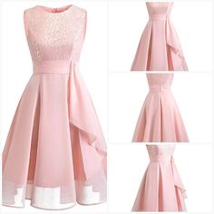 Vintage Lace Dresses Sleeveless Sexy Pink Party A-Line Chiffon Dresses Elegant Women Midi Vestidos Robe Size Chart Our Size Bust Waist Length cm inch cm inch cm inch S 88 72 100 M 92 76 101 L 96 80 102 XL 100 84 103 104 88 104 Sleeveless Dresses, Half Sleeve Dresses, Half Sleeves, Chiffon Dress, Lace Dress, Dresses With Sleeves, Striped Midi Dress, Pink Parties, Elegant Woman