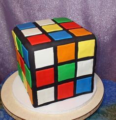 Rubiks Cube Cake  I want this cake for my birthday!