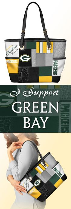 Take your NFL team pride with you everywhere you go! This officially-licensed Green Bay Packers tote bag showcases a stylish patchwork design that will go with any ensemble. For game day or every day, let your true colors show! Green Bay Packers Game, Packers Team, Packers Baby, Greenbay Packers, Football Memes, Nfl Football, Giants Baseball, Patchwork Designs, Indianapolis Colts