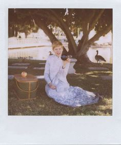 The Band of Outsiders Spring 2012 Catalog Stars Michelle Williams #polaroid #photography trendhunter.com