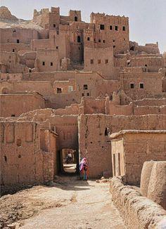 Une autre vue des remparts de la kasbah des Ait ben Haddou.