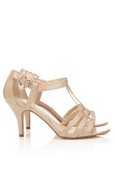 Nude Strappy Sandal bridesmaid shoes These would be perfect for our bridesmaid dresses!!