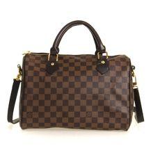 Louis Vuitton B Grade Damier Ebene Canvas Speedy 30 - Coffee 40391  $79.00
