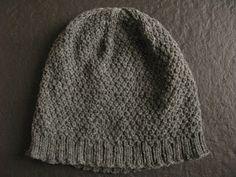 Asterisk hat free knitting pattern by Littletheorem, double moss stitch  US 6 Needles