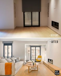 Home Staging antes y después. Markham Stagers Barcelona. Home Staging. #homestagingbarcelona #markhamstagers #antesydespues  #homestaging #beforeafterstaging Home Staging, Home Designer, Barcelona, Interiores Design, Conference Room, Table, House, Furniture, Space