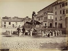 Piazza Barberini 1865 Rome, Italy