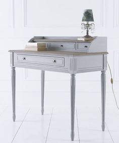 French House Gris & Elm painted writing desk | Angel and Boho
