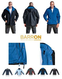 The Barron 3-in-1 Jacket is a thick winter jacket with a rain resistant outer and a removable fleece inner jacket. A high end corporate clothing jacket.