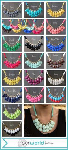 Double Delight necklace. One of our top selling necklaces in over a dozen colors and they're only $7.99!
