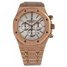 Audemars Piguet Royal Oak Chronograph 41 Rose Gold Watch White Dial 26320OR.OO.1220OR.02
