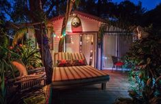 Tiny Home Brings A Slice Of Tropical Paradise To The Desert.  #TinyHouseforUs