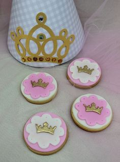 Princess Baptism Party cookies! See more party ideas at CatchMyParty.com!