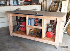 workshop makeover with repurposed storage and diy workbench, diy, organizing, repurposing upcycling, storage ideas, woodworking projects
