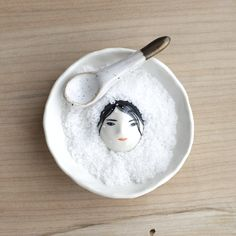 Image of Buried Under the Snow Salt Dish Set 10 - White. Ready to ship.