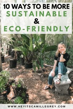 10 Ways to Be More Sustainable and Eco Friendly. Learn how to minimize your waste and ways to invest in reusable and sustainable products for your home. | Hey Its Camille Grey #ecofriendly #sustainable #zerowaste #reducereuserecycle