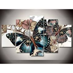 "Cheap mosaic decor, Buy Quality diy directly from China diamond painting Suppliers: Zhui Star DIY Full Square Diamond Painting ""butterfly"" Multi-picture Combination Embroidery Cross Stitch Mosaic Decor Wall Painting Flowers, Butterfly Painting, Butterfly Flowers, Diy Painting, Butterfly Canvas, Canvas Pictures, Art Pictures, Canvas Wall Art, Canvas Prints"
